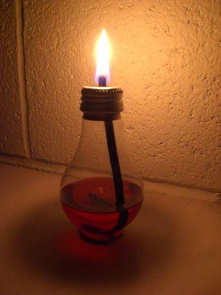 bulb oil lamp