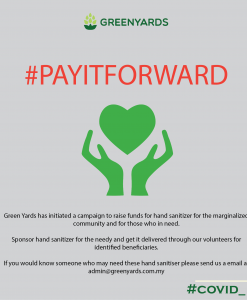 pay it forward hand sanitizer fund raising