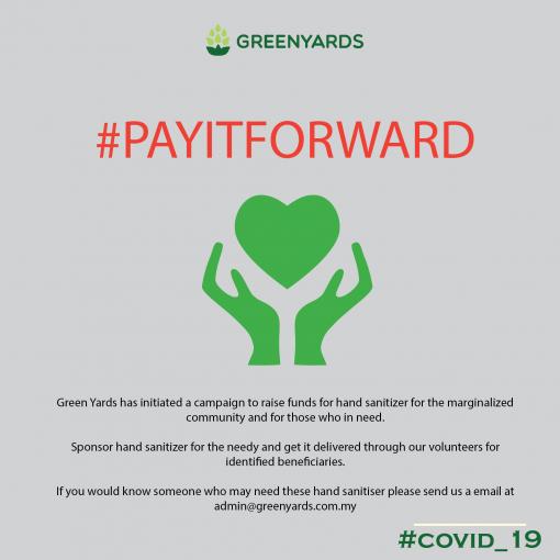 pay it forward hand sanitizer fund raising